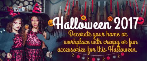 Decorate your home or workplace with creepy or fun accessories for this Halloween.