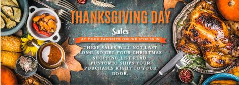 Thanksgiving Day sales at your favorite online stores in the USA