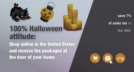 Accessories and decoration for Halloween, purchase in USA and receive at home