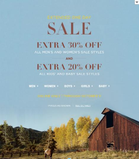 30% off  in Polo Ralph Lauren.